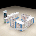 White color phone repair kiosk mall phone accessories display stand design for sale