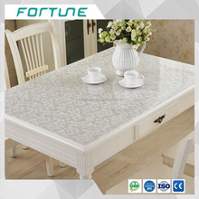 printed PVC film for table cover protecting the glass with good price