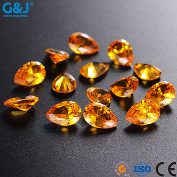 guojie brand wholesale price synthetic rough diamond Drop Hap chat on Bulk for clothing accessories Crystal Loose Stones