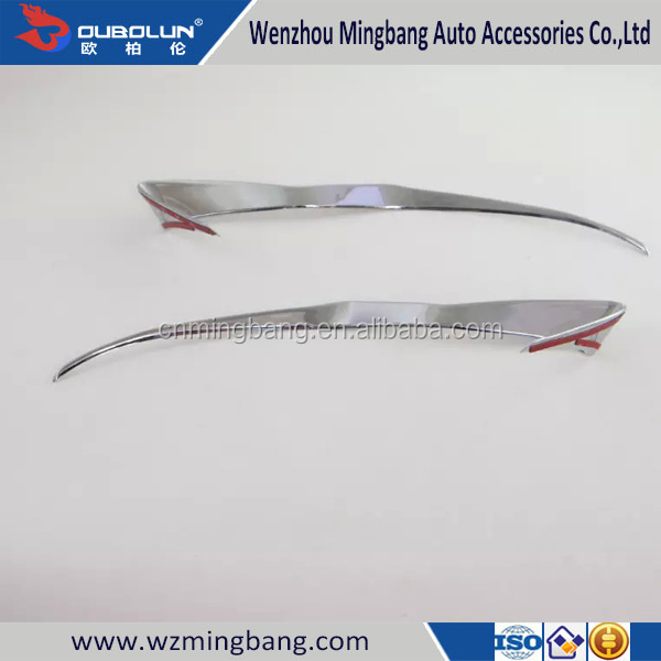 Auto Accessory Chrome Head light head lamp eyebrows cover For Subaru XV 2015