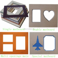 2.0mm supper white core wholesale brown heart shape frame mat