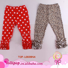 Little Fashionista Hot Icings Triple Ruffle Leggings Cotton Harem Tight Pants Wholesale Baby Kids Girls Ruffle Pants Icing