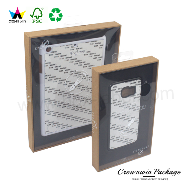 New Wholesale Kraft Paper Custom Phone Case Paper Box Packaging With Window