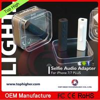 Wireless Bluetooth selfie audio adapter, headphone audio adapter for iphone
