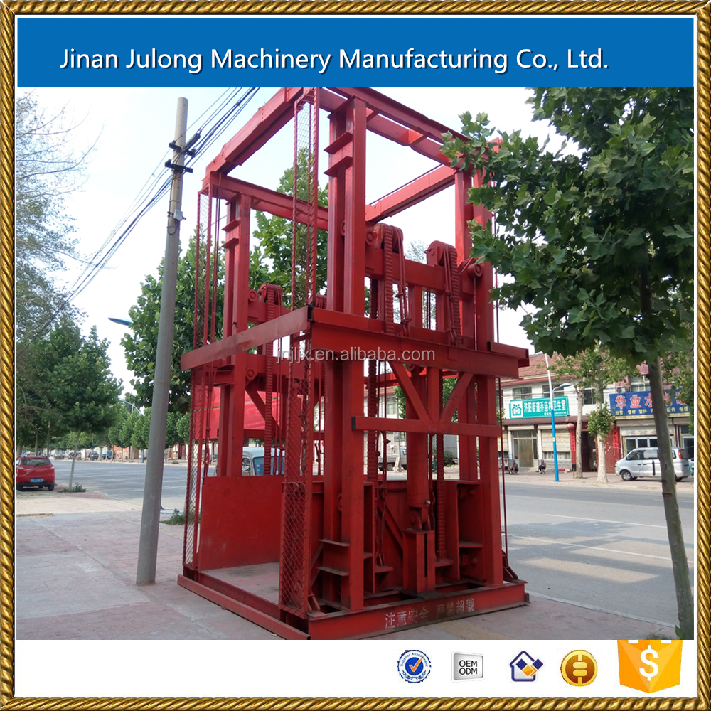 Hydraulic cargo guide rail lifts made in China