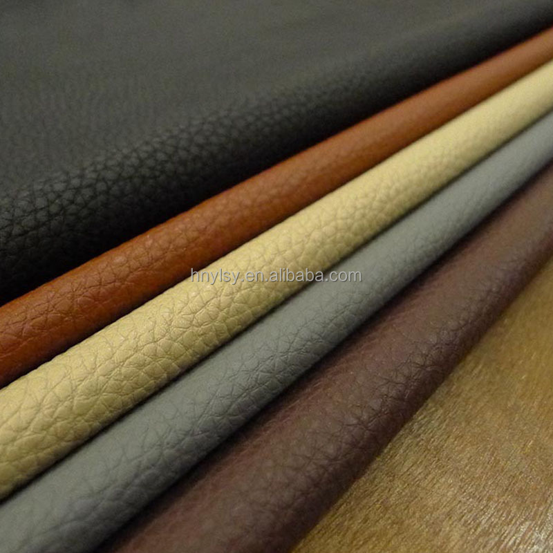 1.6mm pvc sofa leather material, wholesales 100% polyurethane faux leather, matte faux printed pvc polyurethane leather