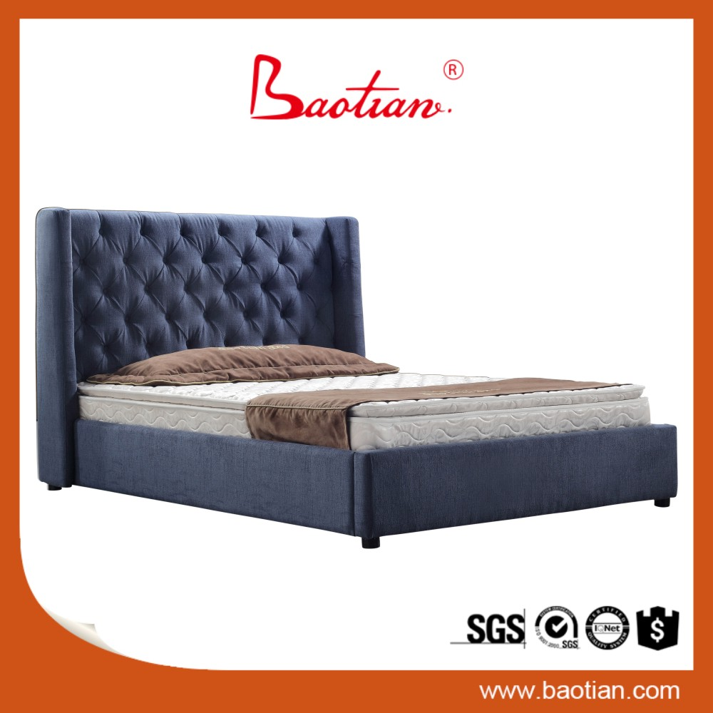 New model double bed design furniture