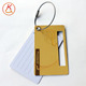 Customized PVC luggage hanger tag travel accessory name tag with metal strap