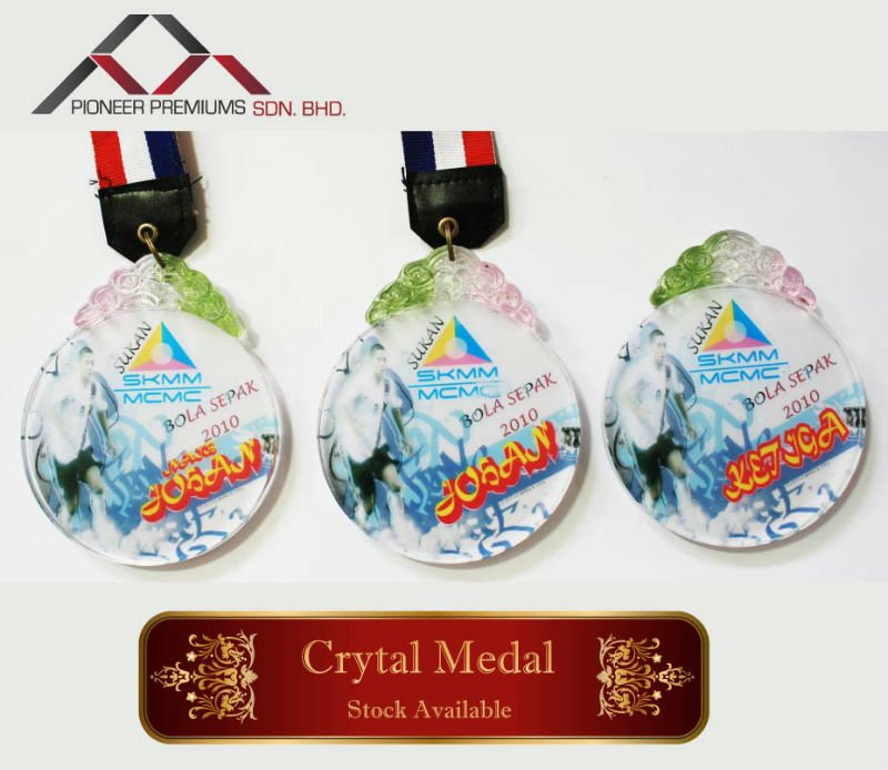 Crystal clear medal