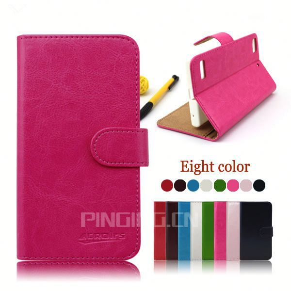Classic Crystal grain PU Leather Case for Fujitsu F-10D,Card slots holder for Fujitsu Arrows X F-10D
