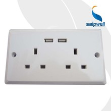 Saipwell China Professional Manufacture New USB Outlet Wall USB Outlet Wall Plate CE Double Socket USB