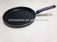carbon steel pizza pan, pancake non-stick marble coating