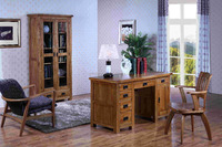 Oak Wood Furniture Outlet with Study Table,Double Bed,Sofa,Bookcase