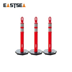 Orange Flexible Polyethylene Looper-Top Plastic Road Marker Posts