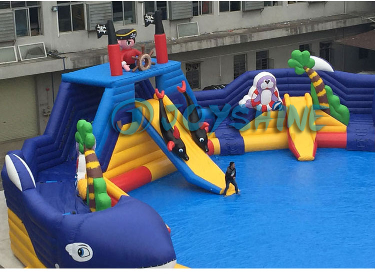 Blow Up Water Games Gorilla Parks Pool Slides Playground Equipment Outdoor Children Inflatable Portable Water Park Slide On Land
