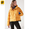 Fashion casual high turtleneck hip-length noise classic puffer down jacket for lady