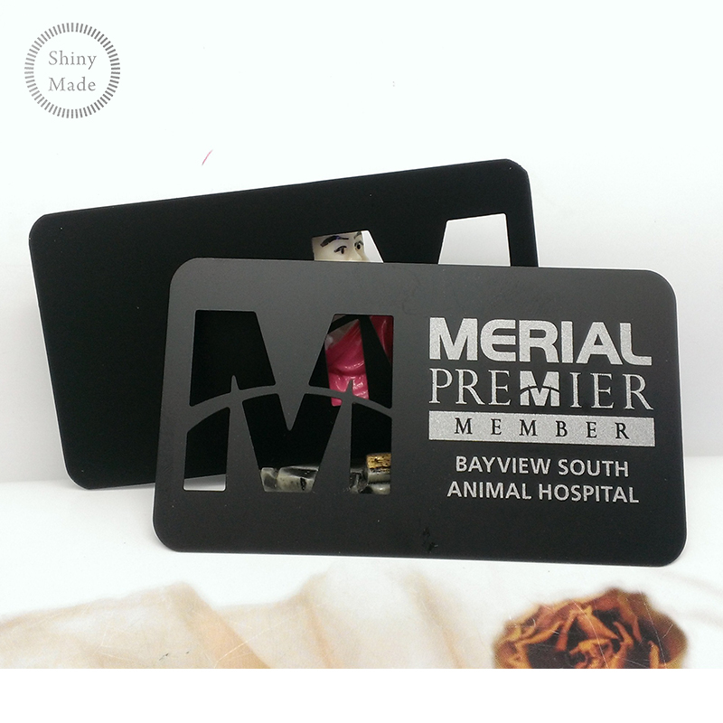 Free sample!New creative stainless steel metal business card design
