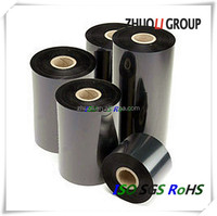 Zhuoli 110x300m Thermal Transfer Ribbon Wax barcode ribbon for barcode label printing