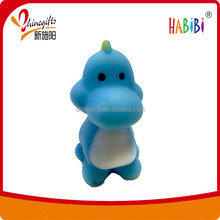 PVC dinosaur with BB whistle bath toy