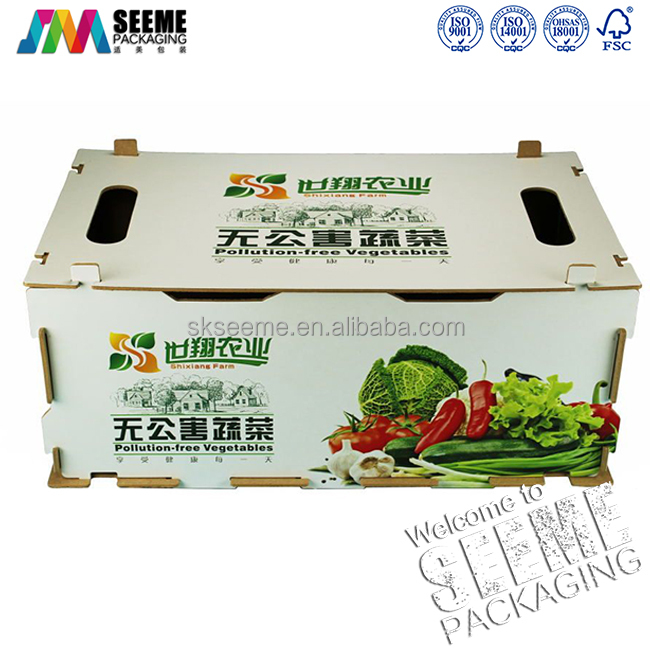 Recycle Corrugated carton cardboard banana shipping tray box for fresh fuits and vegetables