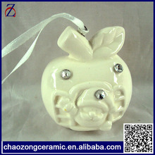 blank christmas ornament import ceramic decoration