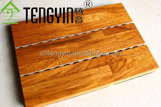 China good supplier factory production grooved wood acoustic panel for studio room decoration