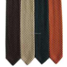 Fashion Knitted Plain Skinny Polyester Ties Point End