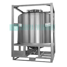 1000l stainless steel IBC tank for chemical storage or transport