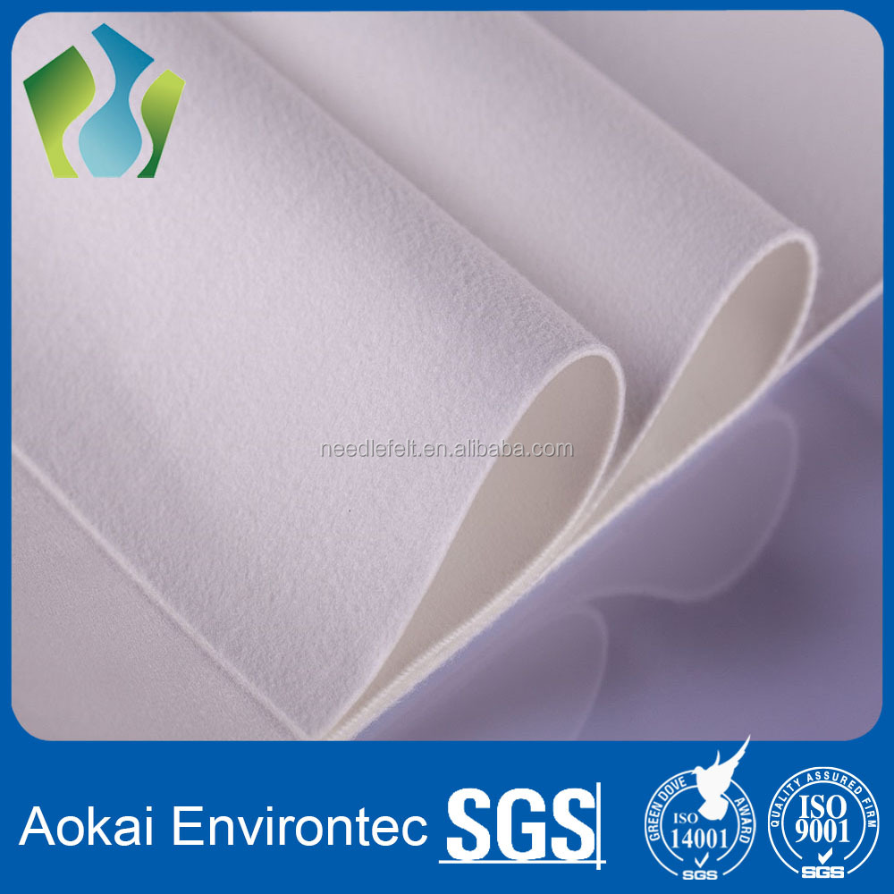 Chinese wholesaler dacron polyester dust filter fabrics filtration material