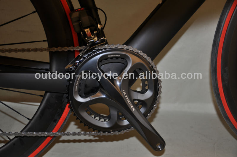 Complete black matt finish aero carbon bicycle with 6770 DI2 groupset