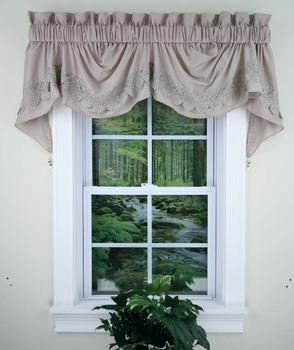 silk valance curtain buy curtain product on. Black Bedroom Furniture Sets. Home Design Ideas