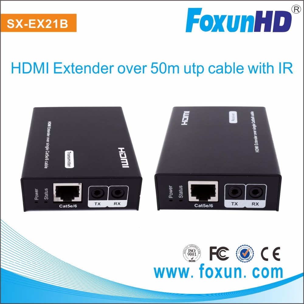 Full HD 1080P HDMI Bidirectional IR UTP Extender with looping HDMI output 50M HDMI Extender transmitter and receiver