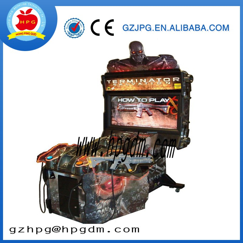 factory wholesale termininator salvation shooting game machine , coin operated gun shooting game machine