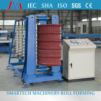 Color steel roofing corrugated steel sheet crimping curving machine from Smartech Machinery