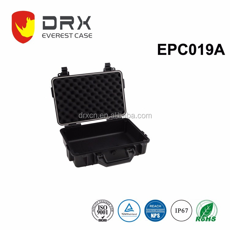 China Manufacturer Rugged Hard plastic carrying tool equipment case with custom logo and foam