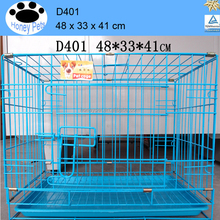 Cheap 2 Doors Training Small Folding Wire mesh Dog Puppy Crate Cage collapsible metal dog crate medium