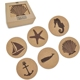 Eco Table Placemat Decor Wood Cup Mat Custom Cork Coaster with Paper Box Packing
