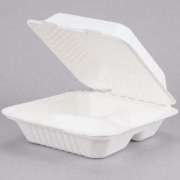 8inch sugarcane disposable bagasse food container