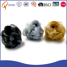 OEM colorful professional PE natural loofah shower pouf