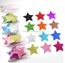 EVA Glittered Star hanging Christmas decorations