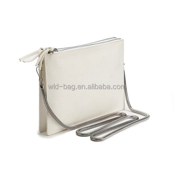 Fashion PU Leather Envelope Clutch with Spring Shoulder