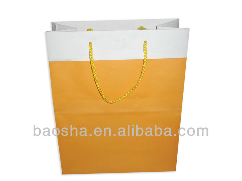 plain paper bag with sleeve design