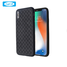 New Product Mobile Phone Back Cover Case Business Custom Soft TPU Leather Woven Cell Phone Case For Iphone X Luxury Case