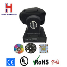 led moving head spot 60W with 7Color+White DMX512 11CHs Professional Led Stage Lights