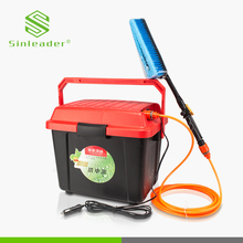 Useful smart portable mini high pressure electric 12 48 volt dc power car washing machine with water tank