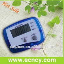 Digital free pedometer with calorie and distance count