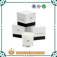 Custom logo printed cardboard paper wholesale candle packaging boxes