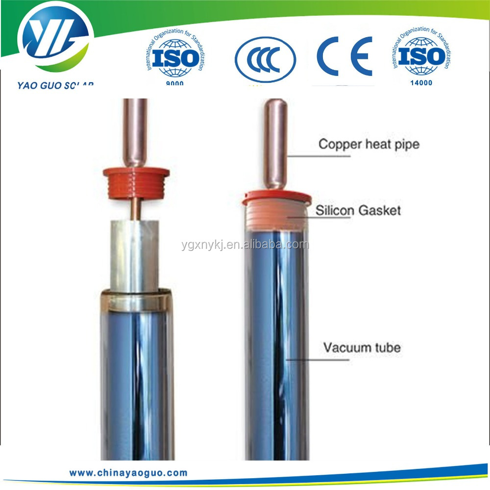 Heat pipe evacuated solar vacuum tube for solar collector