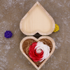 Soap Flower Heart Shaped Wooden Box Colorful Rose for Valentine's Day Gift Company Annual Meeting Creative Gift