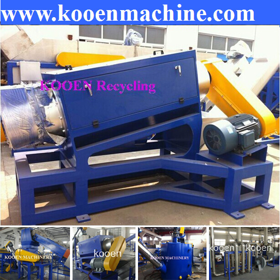 Hot selling factory price of waste used PET bottle plastic crusher washing machine recycling line